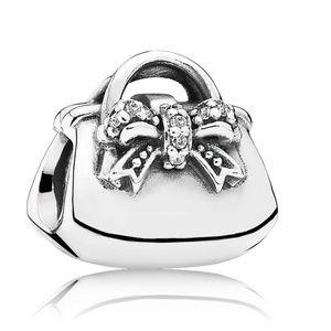 PANDORA (Retired) Sparkling Handbag Charm